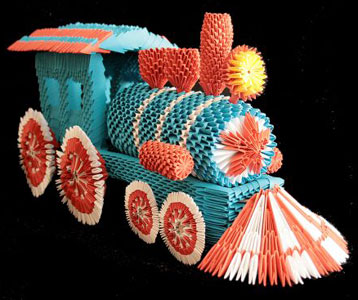 Модульное оригами схема сборки паровоз - Только у нас.