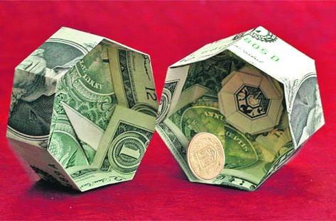 Манигами — оригами из денег