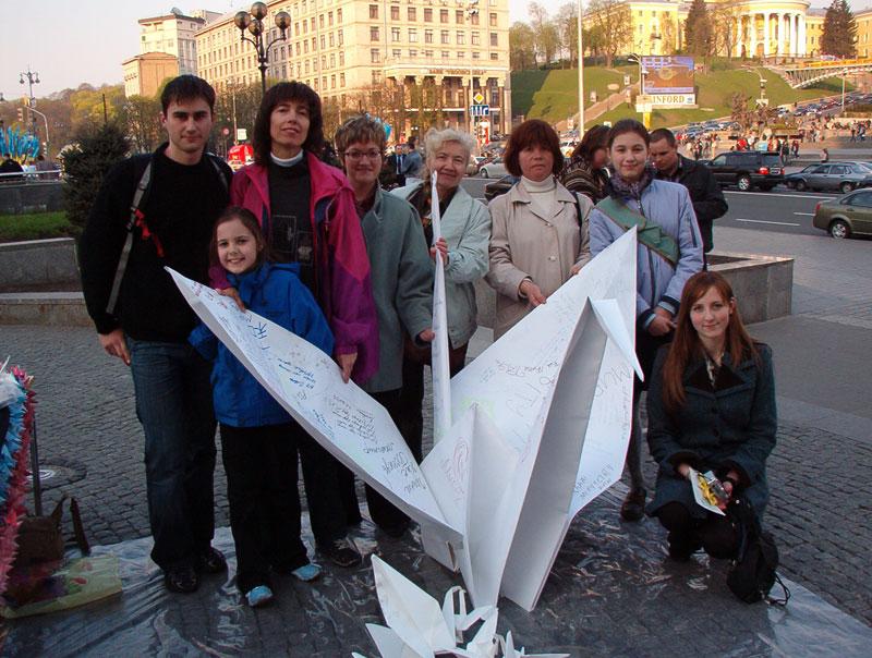 Самый большой журавлик оригами