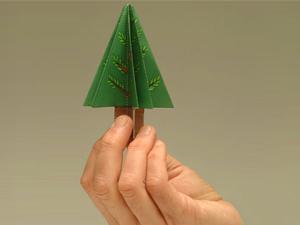 оригами из офисной бумаги