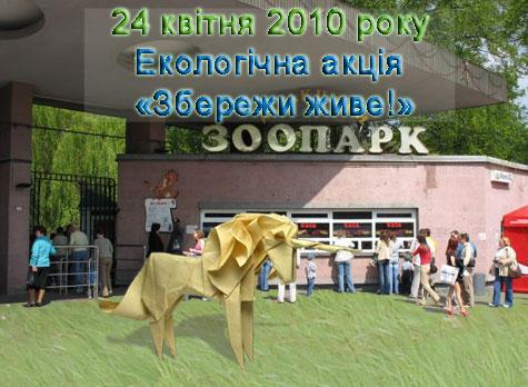 Оригами в киевском зоопарке