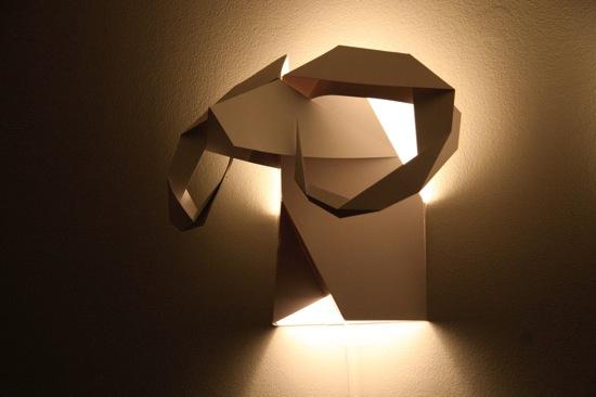 оригами стена